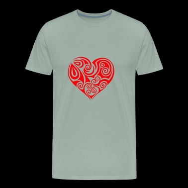 heart Herz - Men's Premium T-Shirt