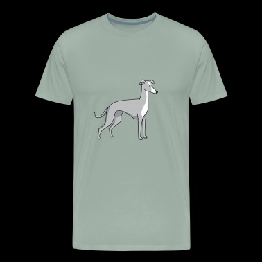 dog - greyhound - Men's Premium T-Shirt