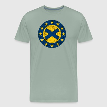 EU Flag and St Andrew Cross - Men's Premium T-Shirt
