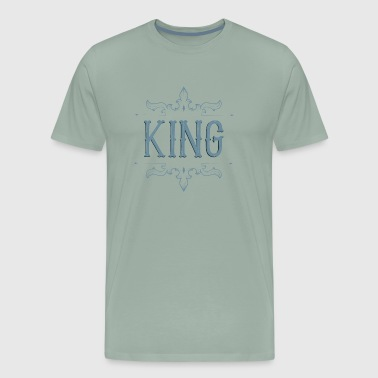 King. Prince. Partner. Queen. Love. Lettering - Men's Premium T-Shirt