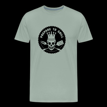 BBQ Time! Prepare to Grill - Skull - Men's Premium T-Shirt