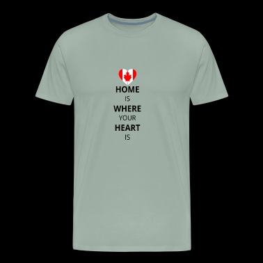 Geschenk Heart is home canada kanada - Men's Premium T-Shirt