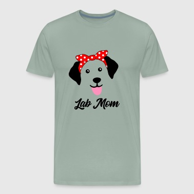 Labrador Retriever Face with Bandana Black Lab Mom - Men's Premium T-Shirt