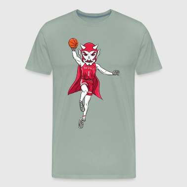 custom red devil mascot basketball - Men's Premium T-Shirt