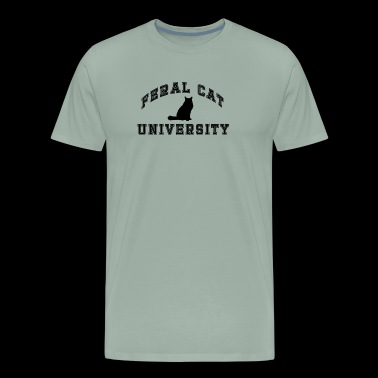 FERAL CAT UNIVERSITY DESIGN 2P - Men's Premium T-Shirt