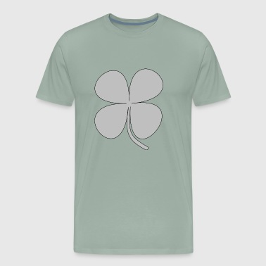 kleeblatt glueck shamrock luck four leaf clover55 - Men's Premium T-Shirt