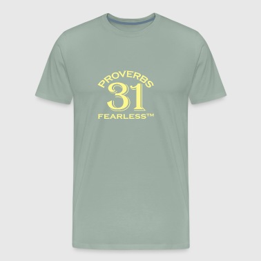 Proverbs 31 Fearless Christian Faith - Men's Premium T-Shirt