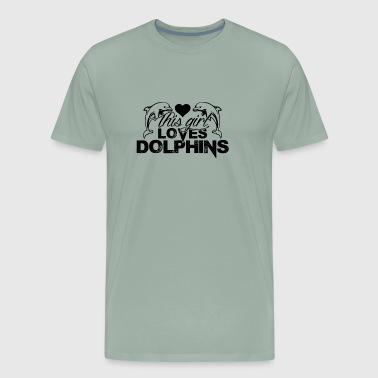 This Girl Loves Dolphins Shirts - Men's Premium T-Shirt