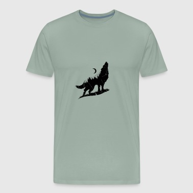 Animal t-shirt. Midnight wolf tee shirt - Men's Premium T-Shirt