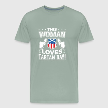 This woman loves Tartan Day T Shirt Gift - Men's Premium T-Shirt