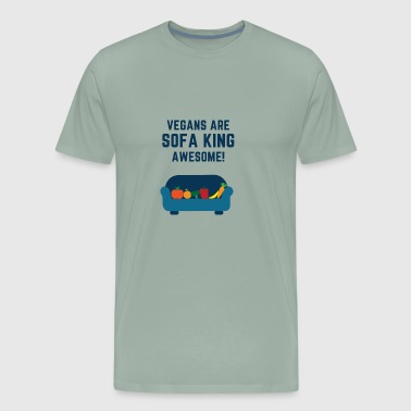 VEGANS ARE SOFA KING AWESOME - Men's Premium T-Shirt