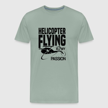 Helicopter flying is my passion pilot shirt gift - Men's Premium T-Shirt
