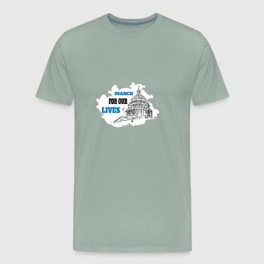 March for Our Lives T-shirt Stop gun violence - Men's Premium T-Shirt