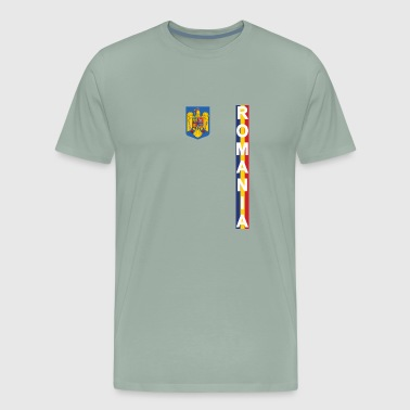 Romania Football Jersey Style Flag Wear - Men's Premium T-Shirt