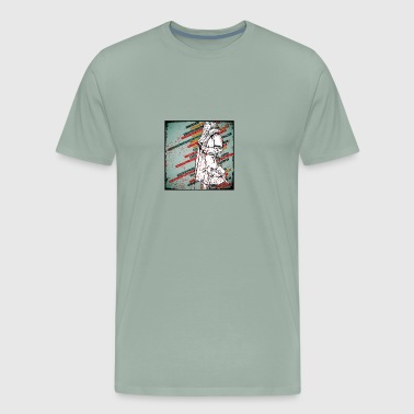 Girl Stripes Art - Men's Premium T-Shirt