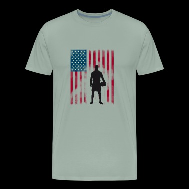 american soccer Player flag Stars and Strip´s - Men's Premium T-Shirt