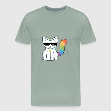 unicorn cat - Men's Premium T-Shirt