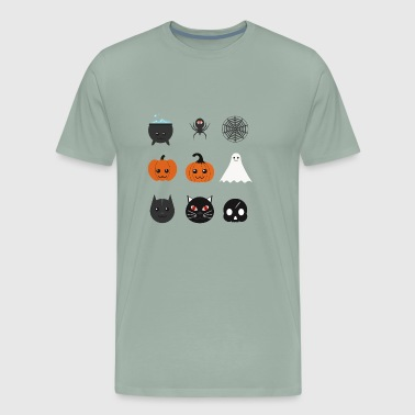 Pumpkin emojis - Ghost emojis - Men's Premium T-Shirt