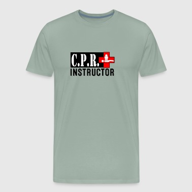 CPR INSTRUCTOR NEW FONT - Men's Premium T-Shirt