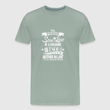 proud son in law white - Men's Premium T-Shirt