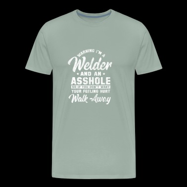 Shirt for welder as a gift - Welder and asshole - Men's Premium T-Shirt