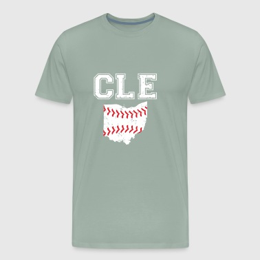 CLE Baseball Cleveland Indians Fan Sport Supporter - Men's Premium T-Shirt