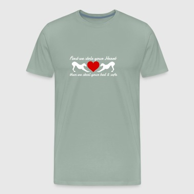 First We Stole Your Heart Then We Stole Your Bed - Men's Premium T-Shirt