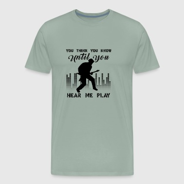 Play Electric Guitar T Shirts - Men's Premium T-Shirt