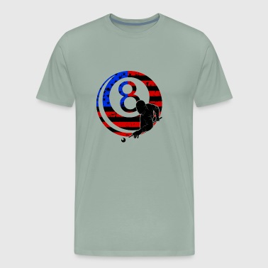 Billiards Player Shirts - Men's Premium T-Shirt