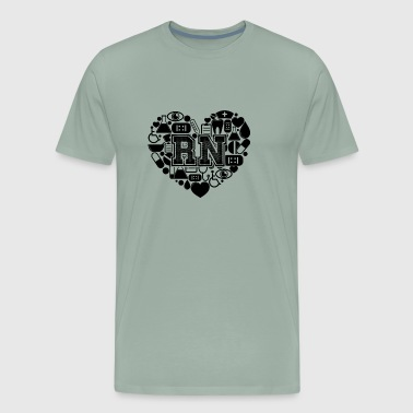 RN Heart T shirt - Men's Premium T-Shirt