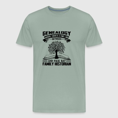 Genealogy Pack Rat Historian Shirt - Men's Premium T-Shirt