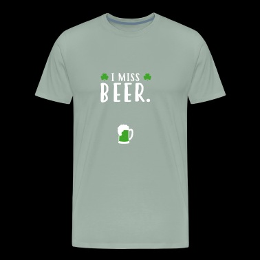 Tee For Beer Lover.Tee For Pregnant Wife - Men's Premium T-Shirt