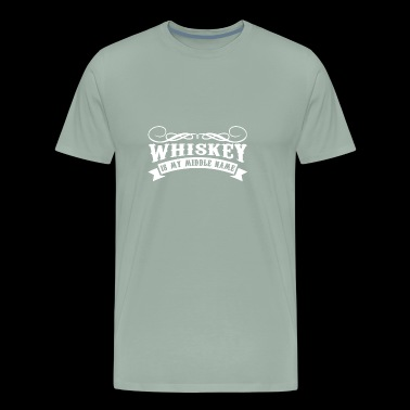 Whiskey Is My Middle Name | I Love Whiskey - Men's Premium T-Shirt