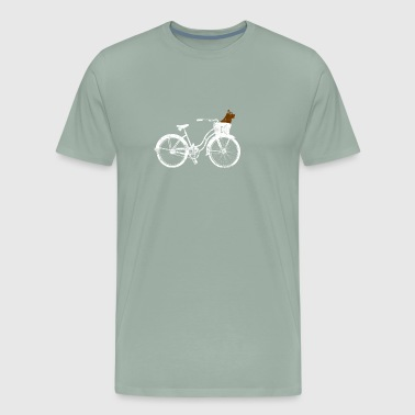 Adobrable Puppy Dog on a Bicycle - Men's Premium T-Shirt