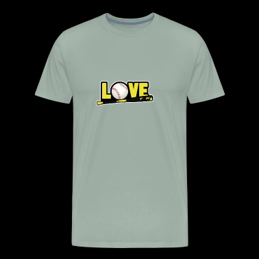 LOVE Softball Shirt - Gift - Men's Premium T-Shirt