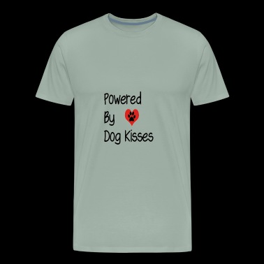 Powered by Dog Kisses - Men's Premium T-Shirt