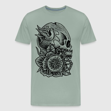 Skull Time of Death - Gothic - Men's Premium T-Shirt