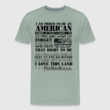 Proud American Patriotic Love Shirt - Men's Premium T-Shirt
