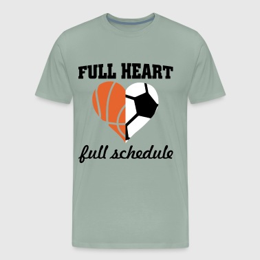 full heart full schedule basketball t shirts - Men's Premium T-Shirt