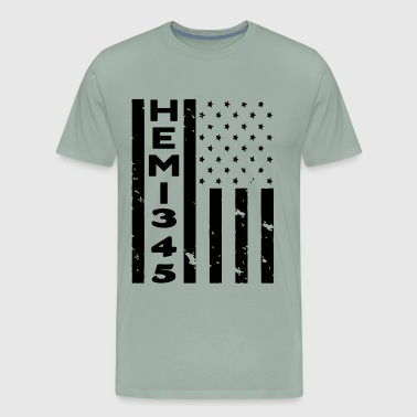 HEMI 345 USA FLAG - Men's Premium T-Shirt