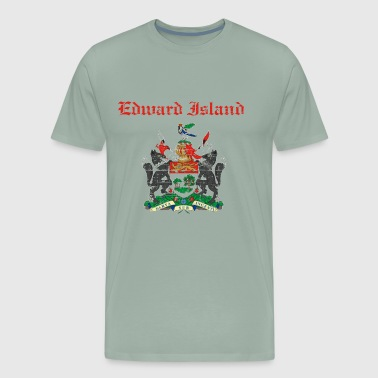 Edward Island grunge coat of arm for canada city - Men's Premium T-Shirt