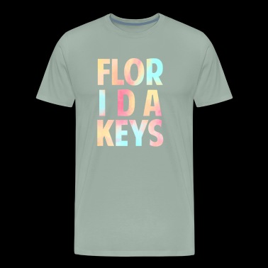 Florida Keys Colorful Souvenir Vacation Travel Design - Men's Premium T-Shirt