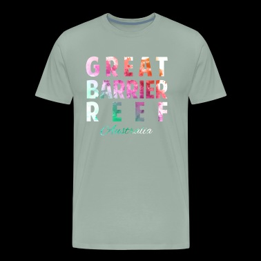 Great Barrier Reef Australia Souvenir Vacation Travel Design - Men's Premium T-Shirt