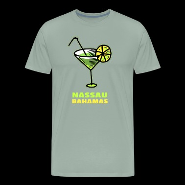 Nassau Margarita & Lime Souvenir Design - Men's Premium T-Shirt
