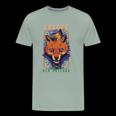 VOODOO New Orleans Fox Design - Men's Premium T-Shirt