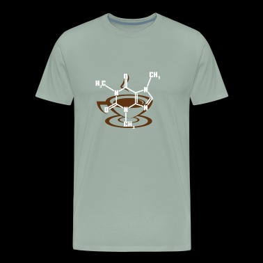 Caffeine Molecule Shirt for Coffee Lovers - Men's Premium T-Shirt