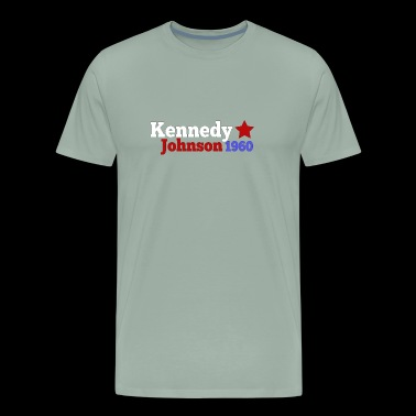 John JFK Kennedy & Lyndon B Johnson 1960 President - Men's Premium T-Shirt
