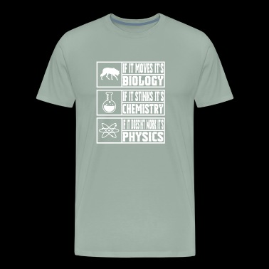 Funny Science Meme Shirt Physics, Chemistry, and Biology - Men's Premium T-Shirt