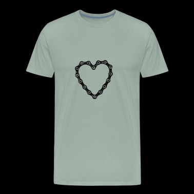 Bicycle Gift Bicycling BMX bike Chain Heart - Men's Premium T-Shirt
