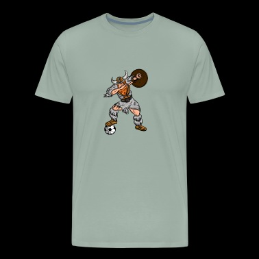 Viking Dabbing Soccer Designs - Men's Premium T-Shirt
